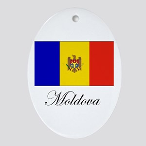 Moldova - Flag Oval Ornament