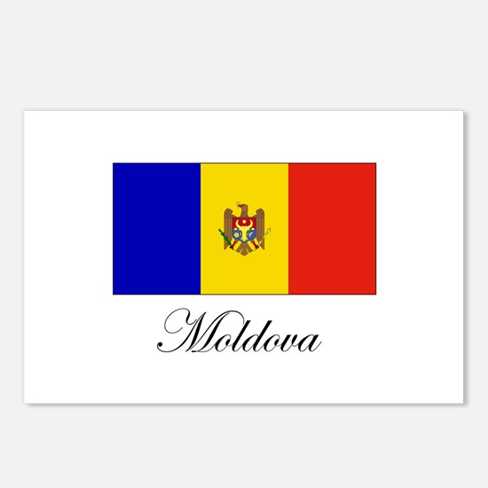 Moldova - Flag Postcards (Package of 8)