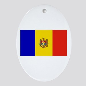 Moldova Flag Oval Ornament
