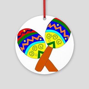 Maracas Round Ornament