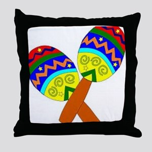 Maracas Throw Pillow