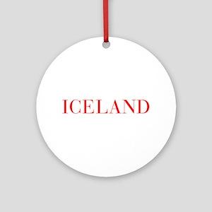 Iceland-Bau red 400 Ornament (Round)