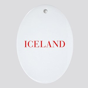 Iceland-Bau red 400 Ornament (Oval)