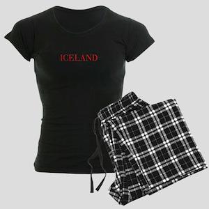 Iceland-Bau red 400 Pajamas
