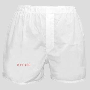 Iceland-Bau red 400 Boxer Shorts