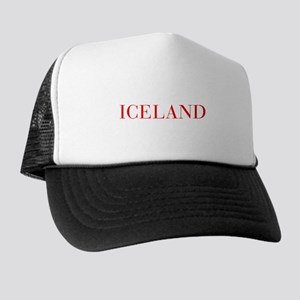 Iceland-Bau red 400 Trucker Hat