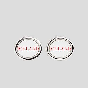 Iceland-Bau red 400 Oval Cufflinks