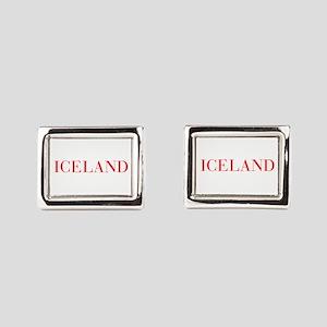 Iceland-Bau red 400 Rectangular Cufflinks