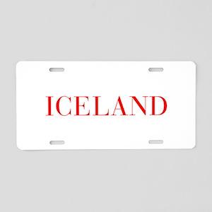 Iceland-Bau red 400 Aluminum License Plate
