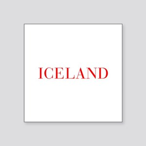 Iceland-Bau red 400 Sticker