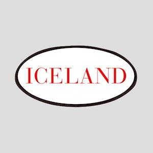 Iceland-Bau red 400 Patch