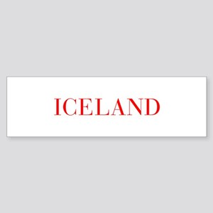 Iceland-Bau red 400 Bumper Sticker