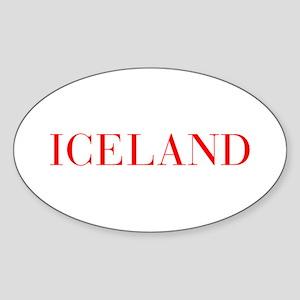 Iceland-Bau red 400 Sticker