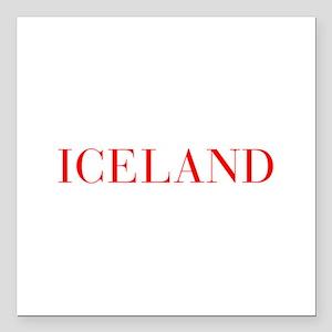 "Iceland-Bau red 400 Square Car Magnet 3"" x 3"""