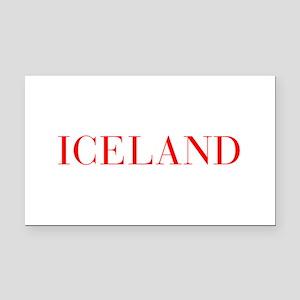 Iceland-Bau red 400 Rectangle Car Magnet