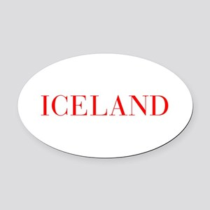 Iceland-Bau red 400 Oval Car Magnet