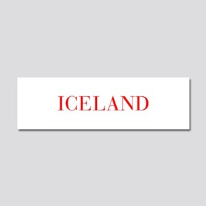 Iceland-Bau red 400 Car Magnet 10 x 3