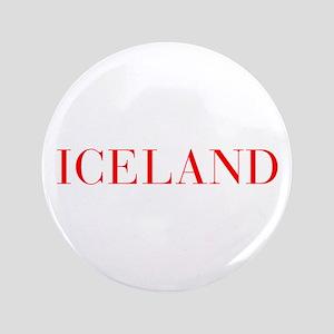 """Iceland-Bau red 400 3.5"""" Button"""