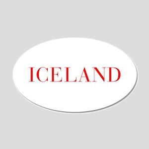 Iceland-Bau red 400 Wall Decal