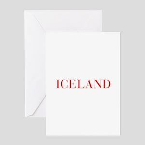 Iceland-Bau red 400 Greeting Cards