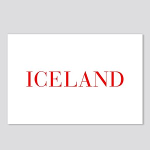 Iceland-Bau red 400 Postcards (Package of 8)