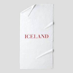 Iceland-Bau red 400 Beach Towel