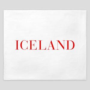 Iceland-Bau red 400 King Duvet