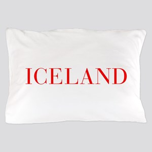 Iceland-Bau red 400 Pillow Case