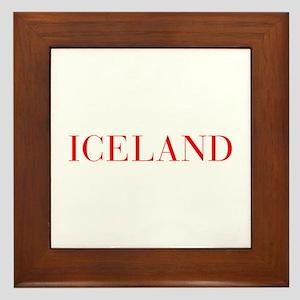 Iceland-Bau red 400 Framed Tile