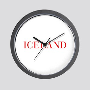 Iceland-Bau red 400 Wall Clock