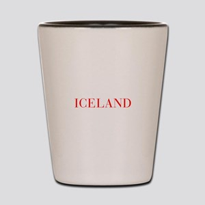 Iceland-Bau red 400 Shot Glass