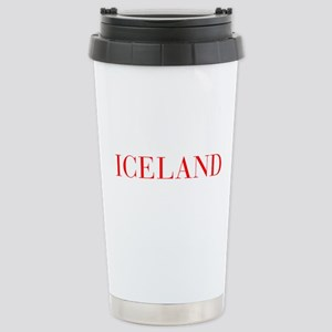 Iceland-Bau red 400 Travel Mug