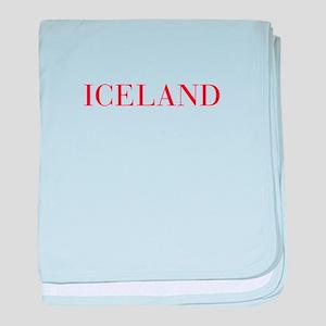Iceland-Bau red 400 baby blanket