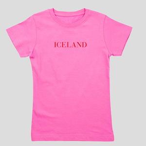 Iceland-Bau red 400 Girl's Tee