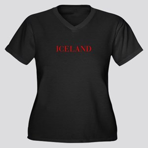 Iceland-Bau red 400 Plus Size T-Shirt