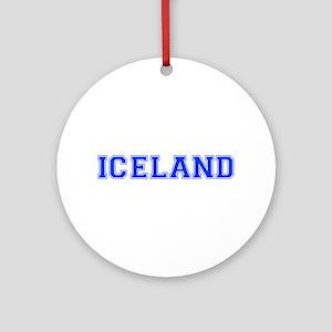 Iceland-Var blue 400 Ornament (Round)