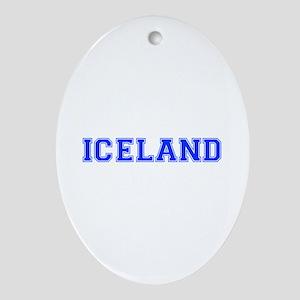 Iceland-Var blue 400 Ornament (Oval)