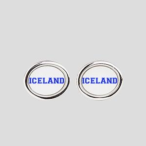 Iceland-Var blue 400 Oval Cufflinks