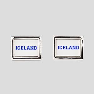 Iceland-Var blue 400 Rectangular Cufflinks