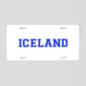 Iceland-Var blue 400 Aluminum License Plate