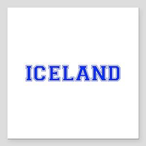"""Iceland-Var blue 400 Square Car Magnet 3"""" x 3"""""""