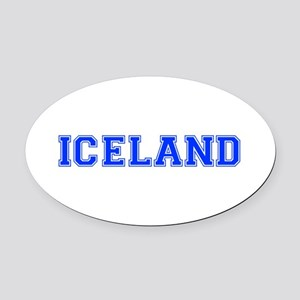 Iceland-Var blue 400 Oval Car Magnet