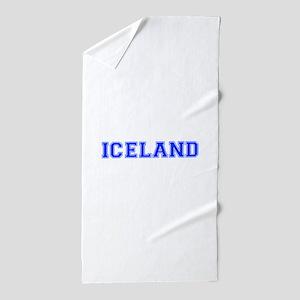 Iceland-Var blue 400 Beach Towel
