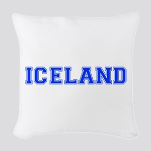 Iceland-Var blue 400 Woven Throw Pillow