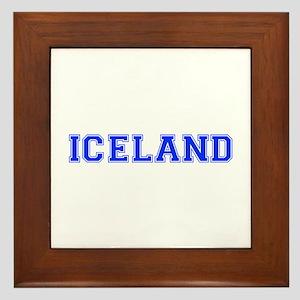 Iceland-Var blue 400 Framed Tile