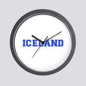 Iceland-Var blue 400 Wall Clock