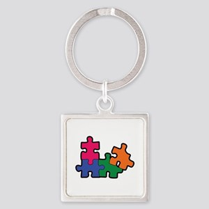 PUZZLE PIECES Keychains