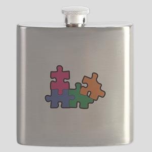 PUZZLE PIECES Flask