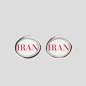 Iran-Bau red 400 Oval Cufflinks