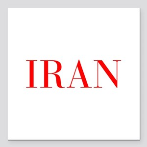 "Iran-Bau red 400 Square Car Magnet 3"" x 3"""